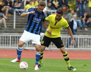 Christian Eggert (l.) gegen Konstantin Fring