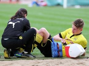 Marc Honrschuh verletzte sich und musste raus