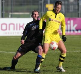 Julian Schieber war für den BVB II am Start