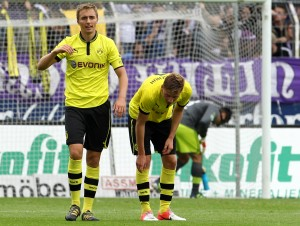 Florian Hübner ärgert sich über den Gegentreffer zum 2-0