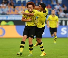 Amini bejubelt seinen ersten Treffer in schwatzgelb