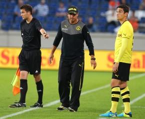 Koray Günter machte den Assistenten noch auf die Panne aufmerksam