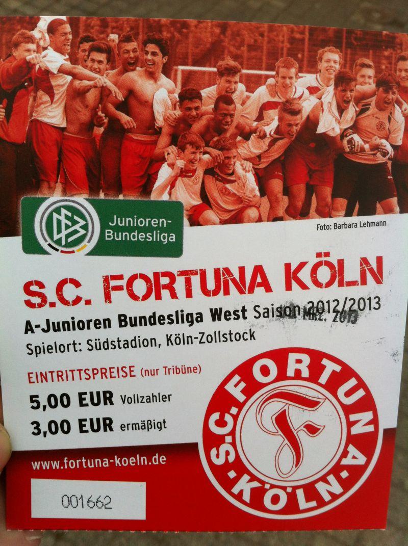 Eintrittskarte Fortuna Köln U19 - BVB U19