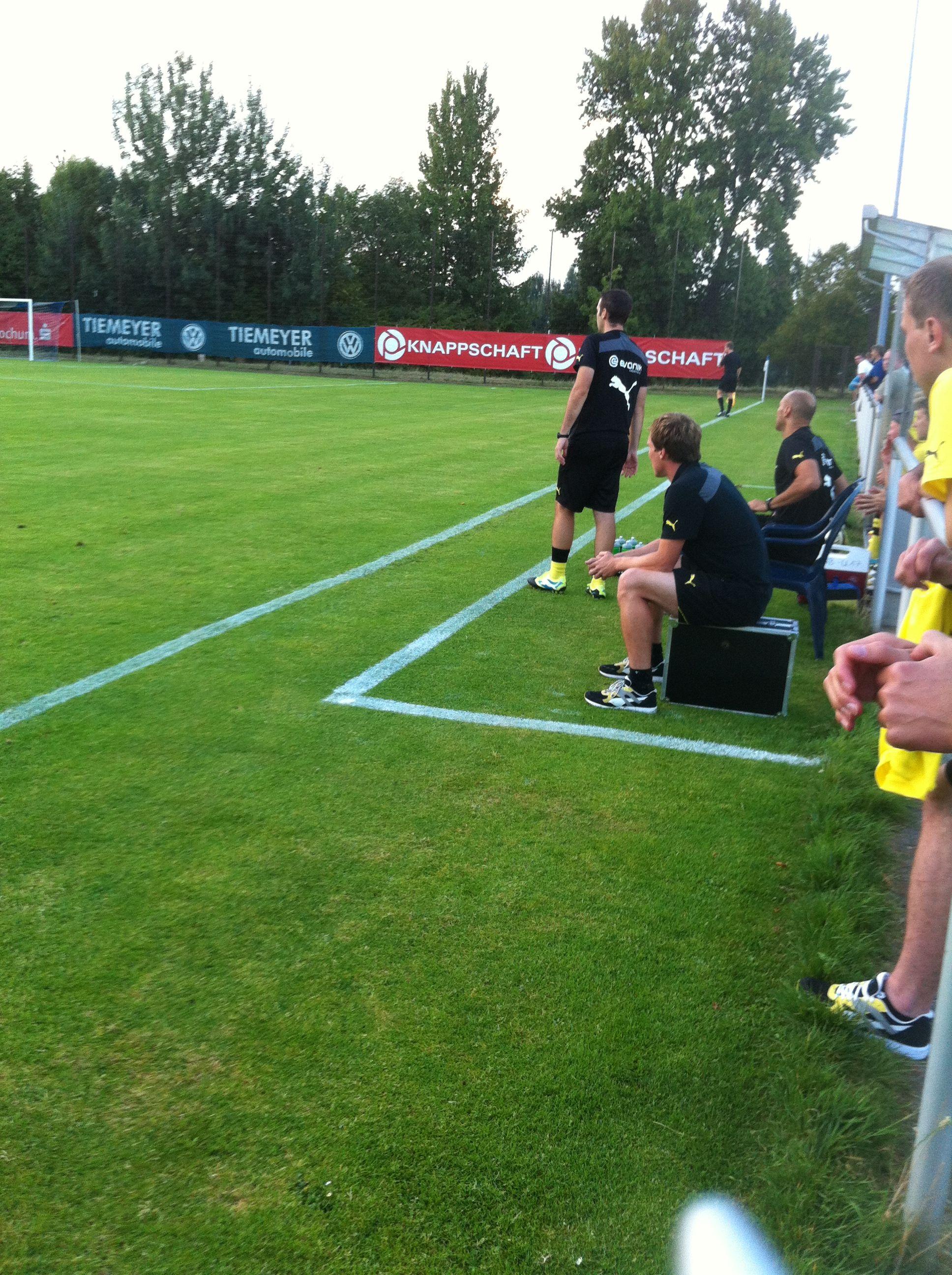 Mal nicht im Wortgefecht: Trainer Hannes Wolf