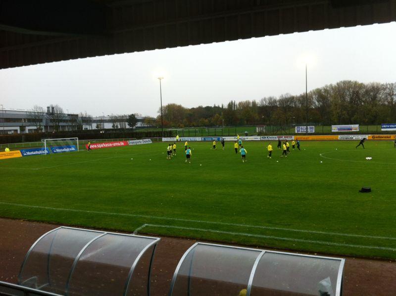 Unsere U19 vor dem Spiel