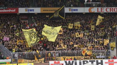 The BVB-fans in the Weserstadium