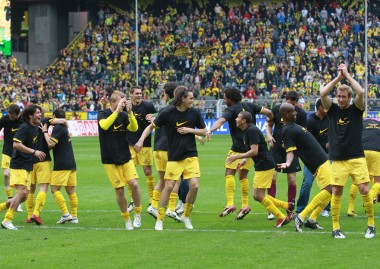 Celebrations after the last homematch