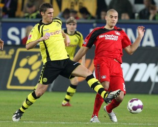 The skipper in action against Derdiyok