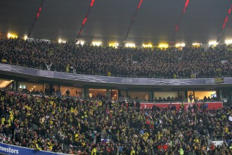 About 8.000 BVB-supporters were yesterday in the Arena Munich