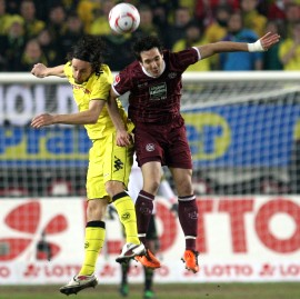 Neven Subotic got the yellow-red card