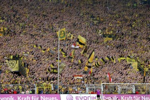 Great support on the Südtribüne