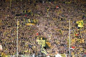 Heimspielaction auf der Südtribüne Dortmund