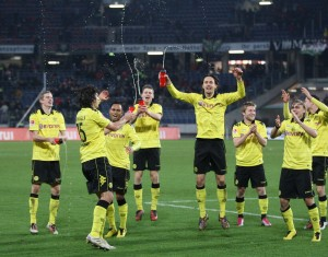 Hopefully the scenes from after the match in Hannover will be repeated in front of the Südtribüne