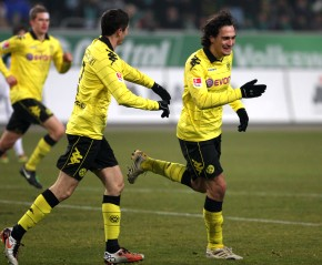 Hummels running away after the third goal