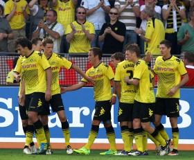 Der Torjubel zum 2:0 des BVB gegen den FC Augsburg