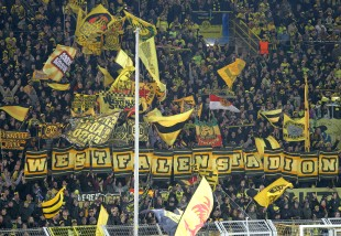 The Südtribüne was ready
