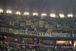 Thousands of BVB fans travelled to Munich