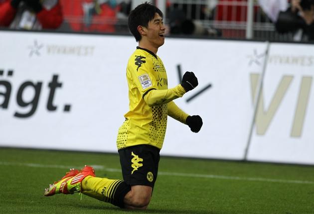 Shinji Kagawa bejubelt seinen Treffer