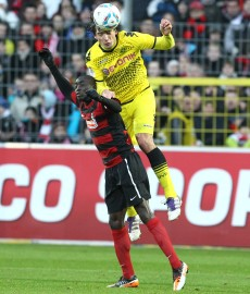 Hummels during the first match in Freiburg