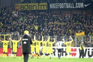 Borussia feiert eine tolle Hinrunde mit den Fans