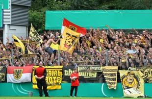 Supporters in Sandhausen