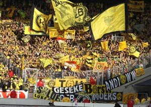 About 8,000 BVB supporters were in Stuttgart