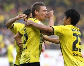 Goal celebration by Dortmund