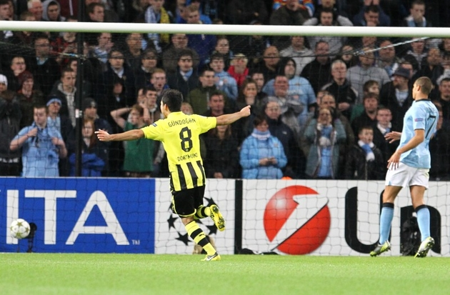 Gündogan celebrates Reus' lead in the first match