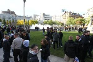 Den ganzen Tag über bevölkerten mehr und mehr Borussen das Stadtzentrum von Manchester