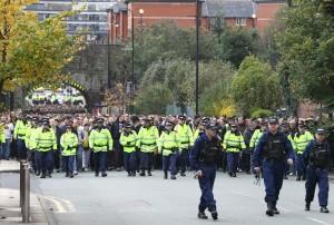 Der Marsch zum Stadion war recht entspannt