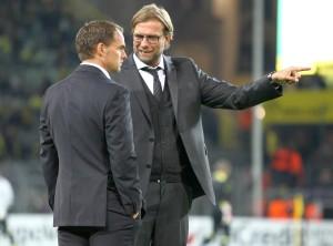 Frank de Boer und Jürgen Klopp nach dem Spiel