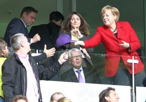 Merkel im Westfalenstadion