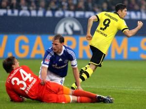 Robert Lewandowski shot the only goal for Borussia