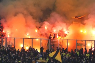 Very amazing pyroshow of the BVB-Ultras