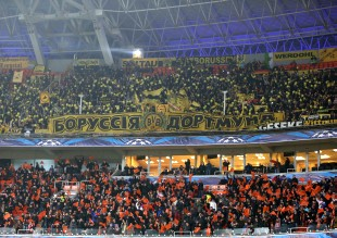 About 2.000 BVB-supporters were in Donezk