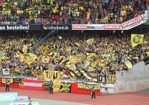 Der Gästeblock in Nürnberg letzte Saison