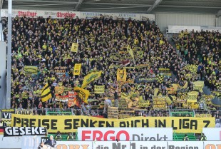 Auch in Fürth gab es Proteste gegen die Eintrittspreise