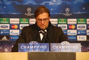 Jürgen Klopp bei der PK