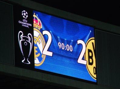 Endergebnis Real Madrid - BVB 2:2