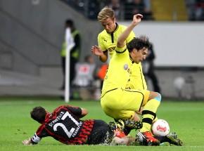 Harter Zweikampf mit Mats Hummels