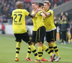 Piszczek jubelt mit Vorlagengeber Reus und Santana