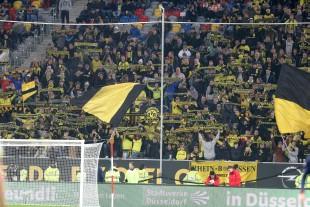 Typische Testspielatmosphäre in der Düsseldorfer Mehrzweckarena