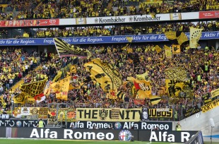 Nice support of BVB fans in Frankfurt