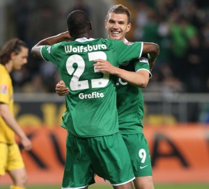 The topscorer Dzeko (r.) and Grafite