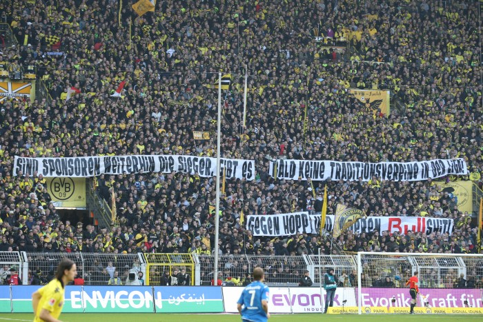 Banners against Hoffenheim - always there