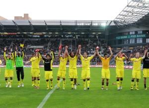 Die Welle nach dem Sieg in Hamburg