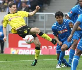 Robert Lewandowski semmelt gerne mal am Ball vorbei
