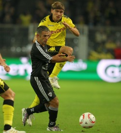 Marcel Schmelzer in the match against Agdam