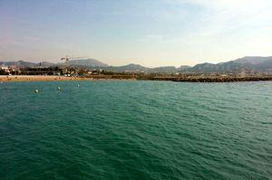 Treffpunkt am Strand in Marseille