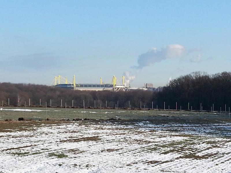 Weißer Rauch über dem Westfalenstadion